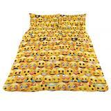 Emoji Reverible Double Quilt Cover Duvet Set YL 2 Pillow Cases