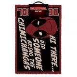 Deadpool Front Door Step Corded Doormat Mat
