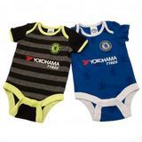 Chelsea Fc 2 Pack Baby Bodysuit Vest Pack Clothes 12-18 Months LN