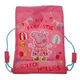 Peppa Pig Drawstring Gym Bag Swimming School Backpack