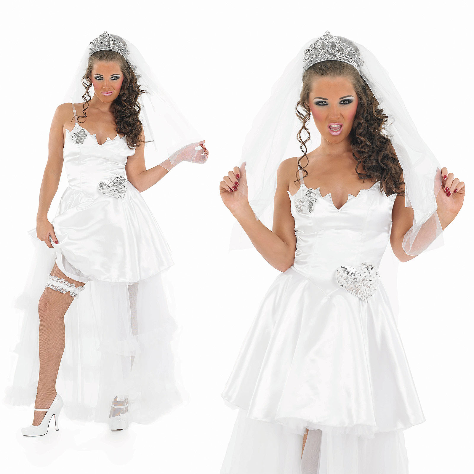 Ladies sexy big fat gypsy wedding fancy dress costume for Sexy wedding dress costume