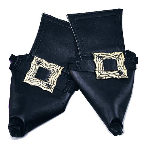 Fundas para zapatos de bruja negros hebilla plateada - Fundas para zapatos ...