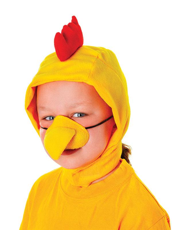 accesorios para disfraz de pollo amarillo nios pico y capucha gallina granja