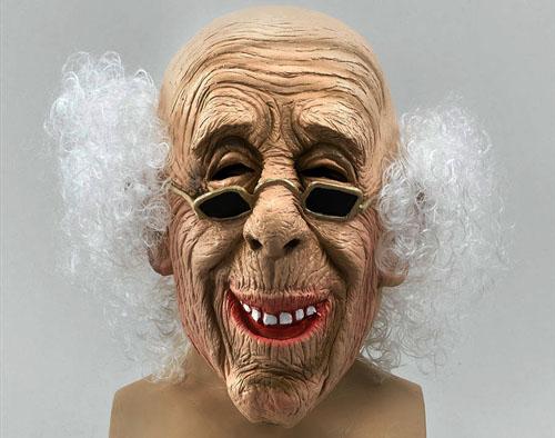 gruseliger alter mann opa maske per cke halloween verkleidung ebay. Black Bedroom Furniture Sets. Home Design Ideas