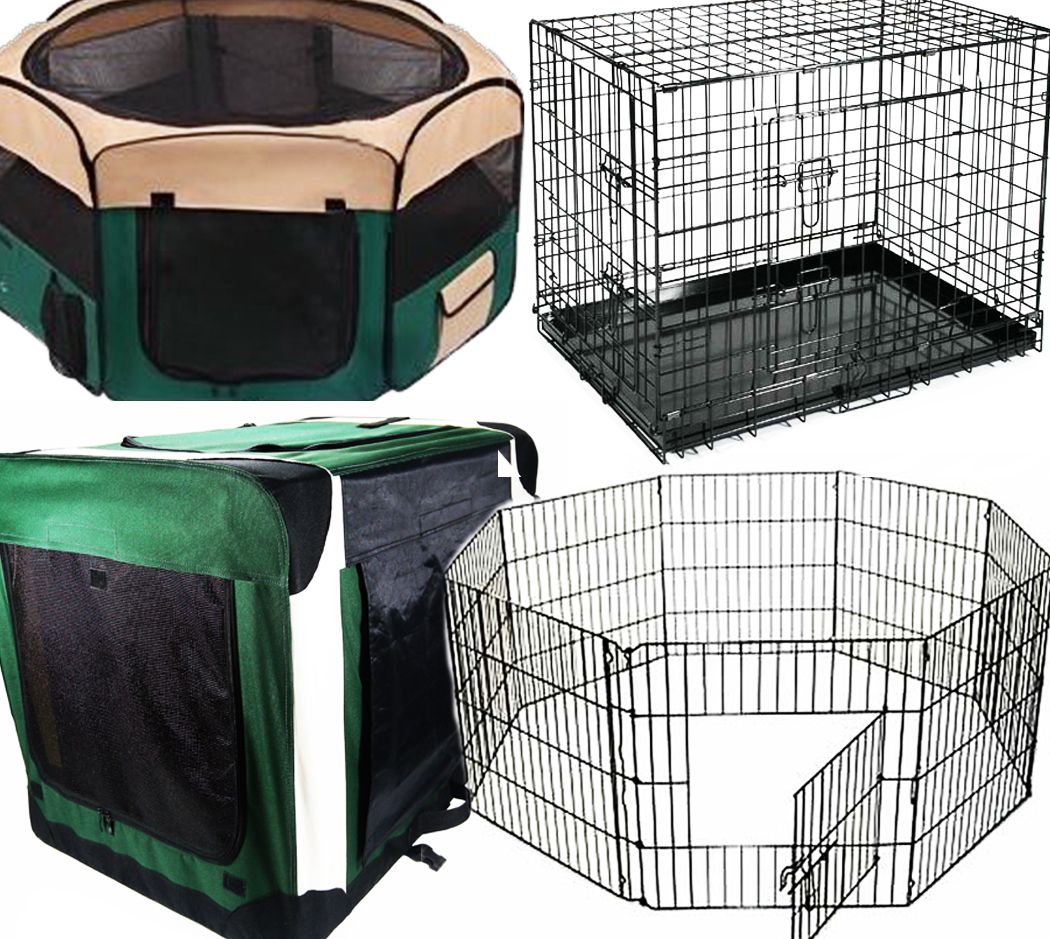 DOG-PUPPY-PET-CAGE-CRATE-CARRIER-FENCE-PLAY-PEN-RABBIT