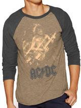 Ac/Dc Baseball Shirt T-Shit Long Sleeve Photo Premium S