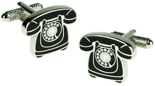 boutons de manchettes t l phone ancien dans un coffret cadeau de luxe ebay. Black Bedroom Furniture Sets. Home Design Ideas