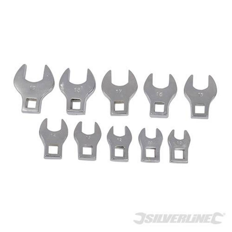 Silverline 10 Piece Crows Foot Spanner Set 10-19Mm