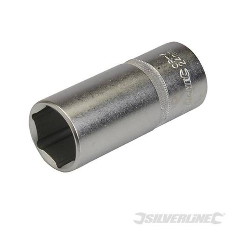 """Silverline Drive Deep 1/2"""" Socket 24Mm"""