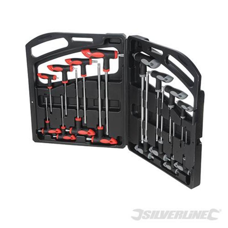 Silverline 16 Piece T-Handle Wrench Set