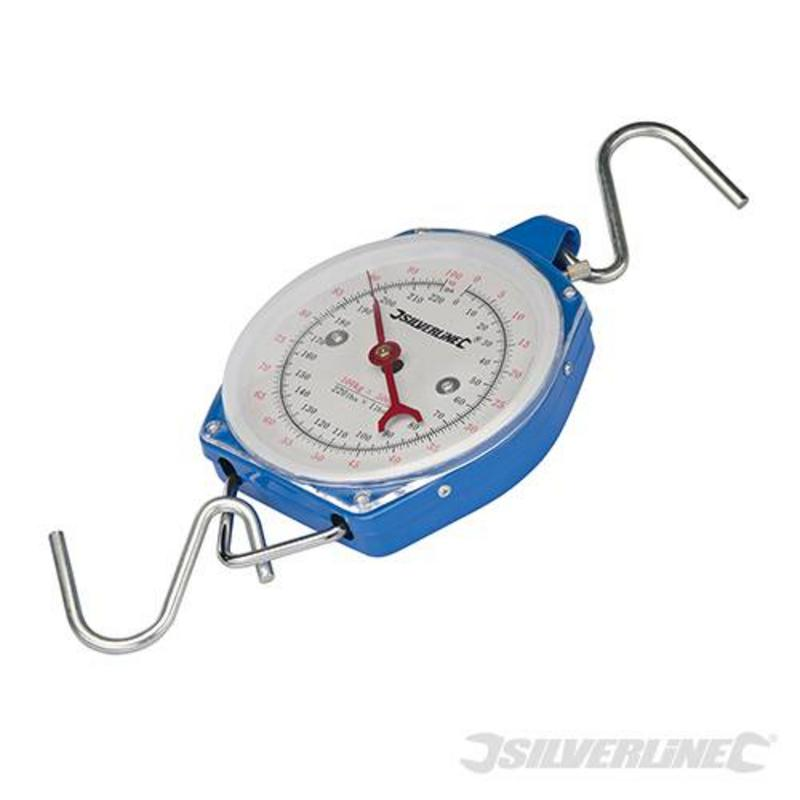 Silverline Heavy Duty Hanging Scales 100Kg