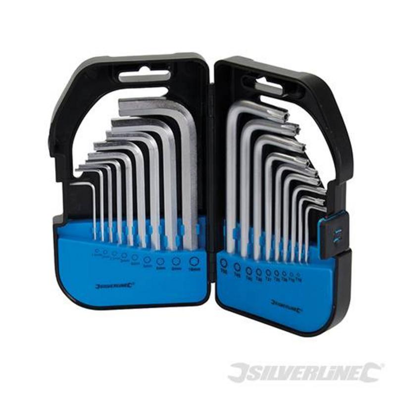 Silverline 18 Piece Hex Key Set T9-T50