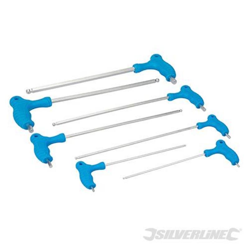 Silverline 7 Piece Long Length Hex Key Set 2.5-10Mm