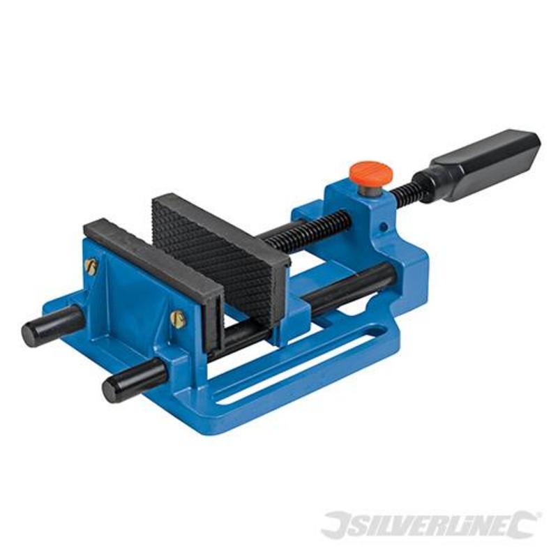 Silverline Quick Release Drill Vice 100Mm