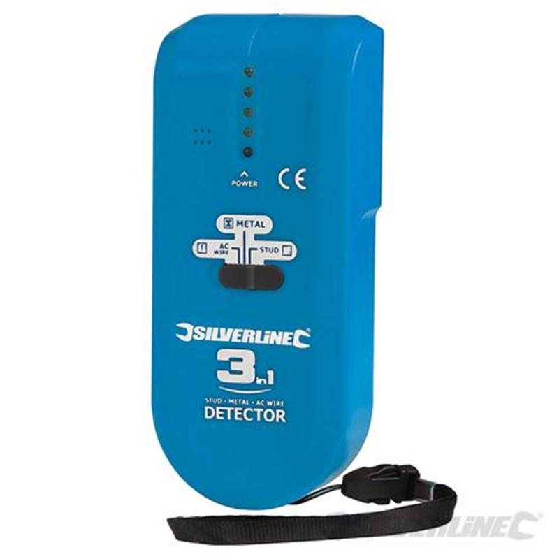 Silverline 3-In-1 Detector Compact 1 X 9V (Pp3)