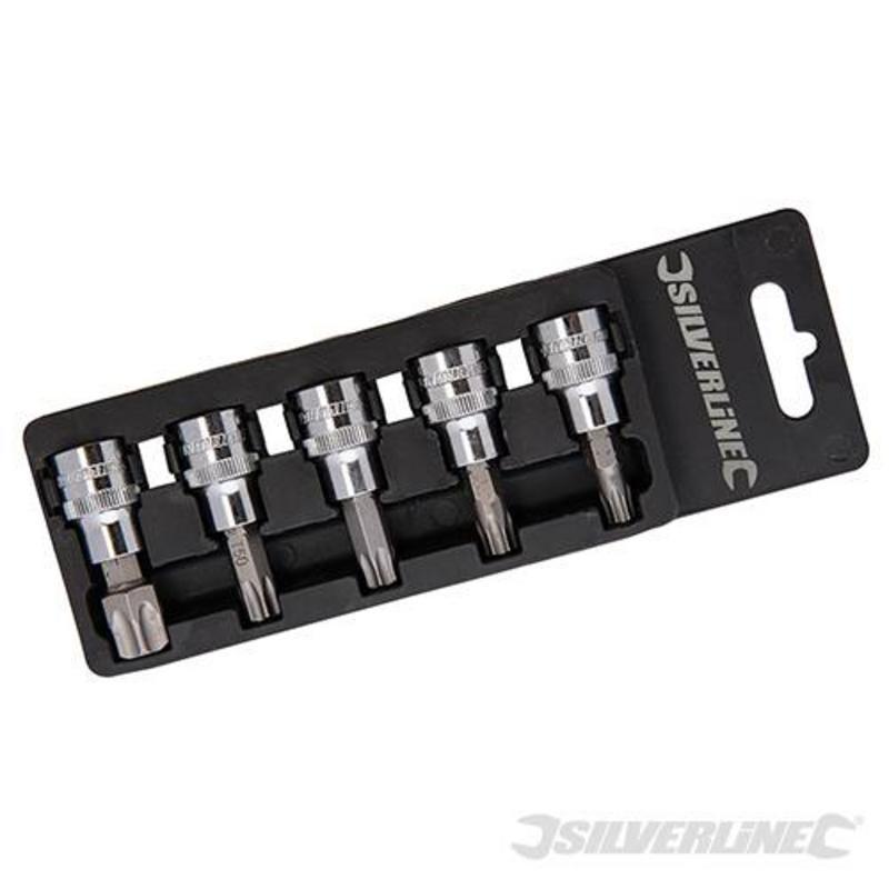 "5-Piece Socket Set T40-T60  3/8"""