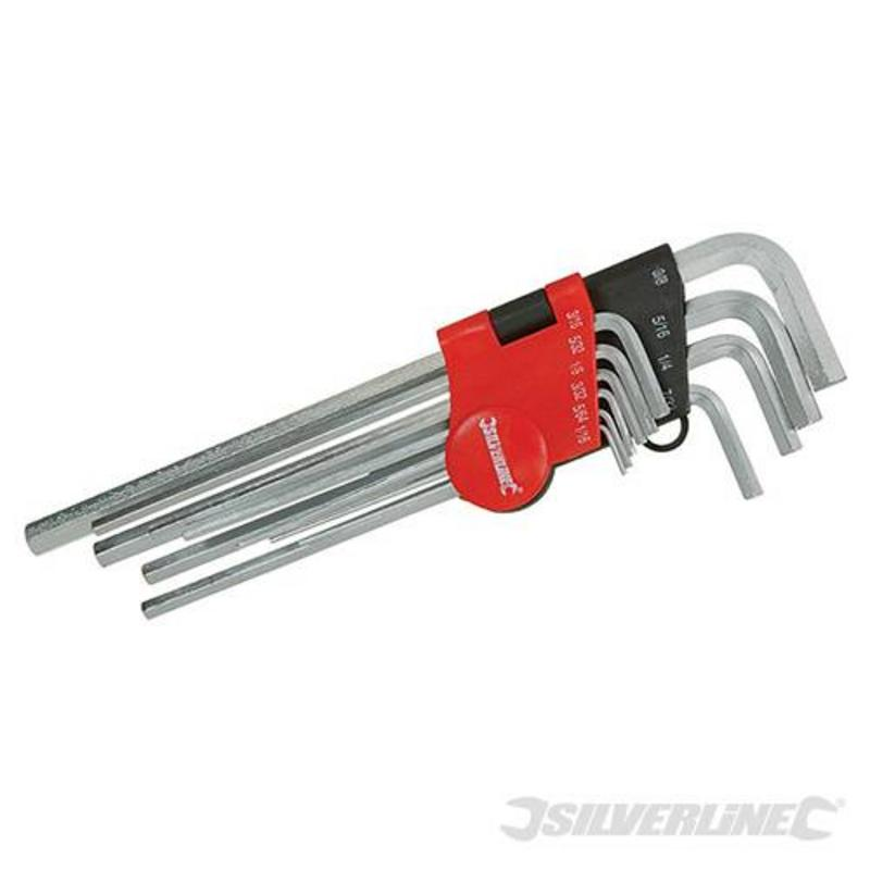"Silverline Key Imperial Set 10Pce 1/16"" Hex Key Iex"