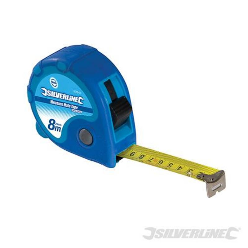 Silverline Measuring Tape 8M X 25Mm
