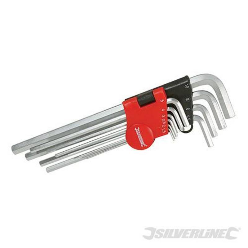 Silverline 10 Piece Metric Hex Key Set 1.5-10Mm