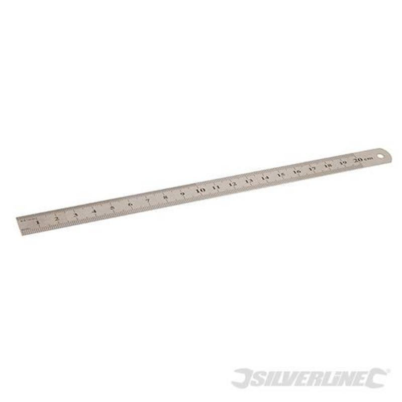 Silverline Flexible Ruler 200Mm