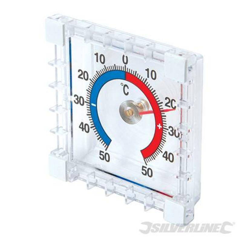 Silverline Indoor & Outdoor Stick-On Thermomenter -50? To 50?C