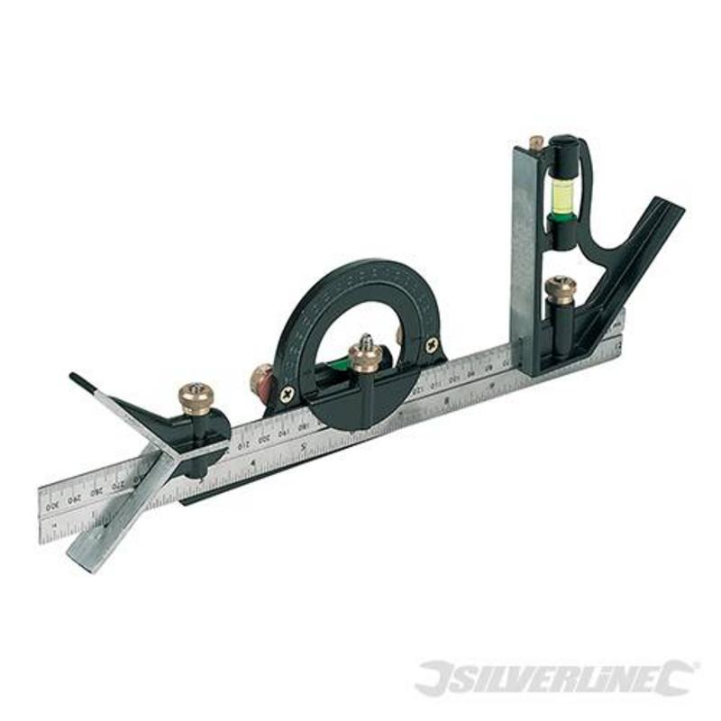 Silverline Combination Square Set 300Mm