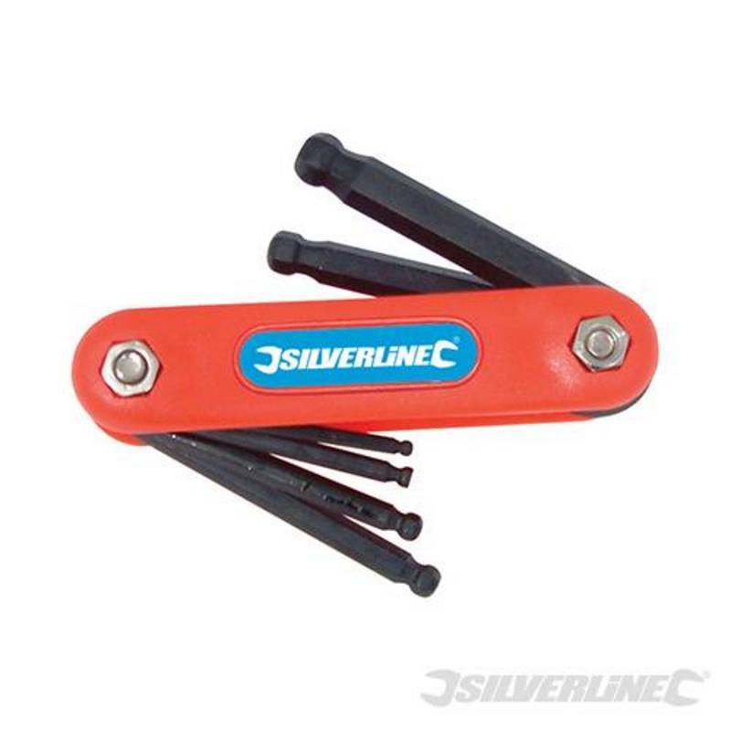 Silverline 7 Piece Hex Key Ball End Metric Tool 2.5-10Mm