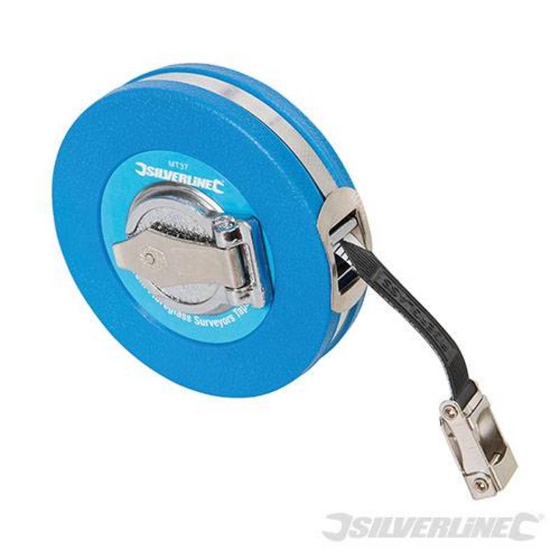Silverline Fibreglass Surveyors Measuring Tape 10M