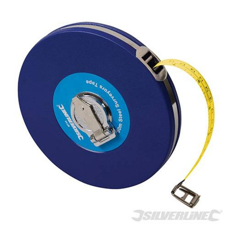 Silverline Steel Surveyors Measuring Tape 50M