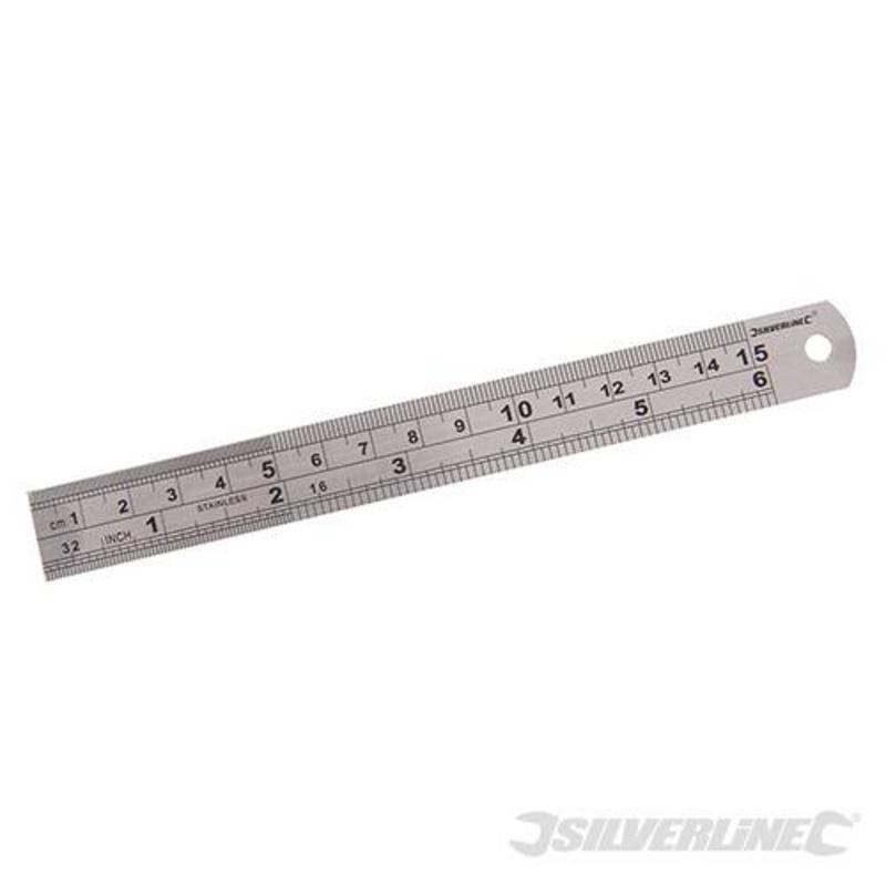 Silverline Steel Ruler 150Mm