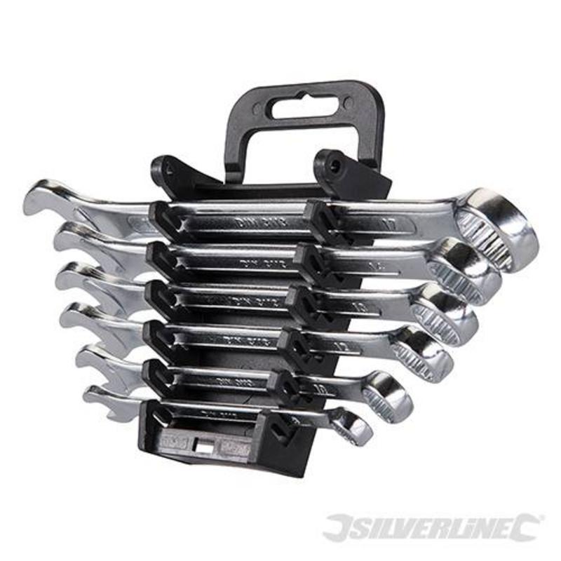 Silverline 6 Piece Combination Spanner Set 8-17Mm