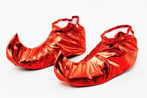 narren schuhe bedeckung rot mittelalter scherzbold zirkus kobold faschingskost m. Black Bedroom Furniture Sets. Home Design Ideas