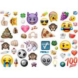 Emoji Wall Sticker Set - 54 Stickers