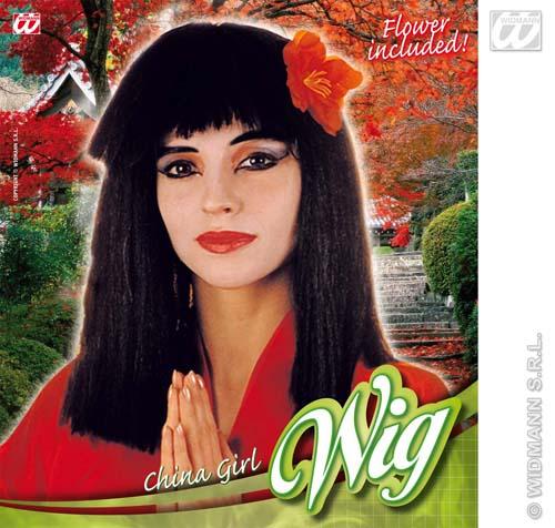 Oriental Girl Black Wig 109