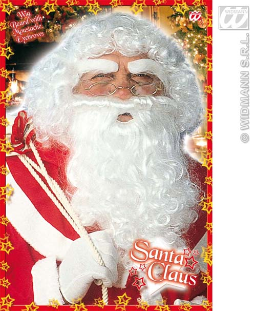 Luxury father christmas wig set with beard santa clause wizard fancy