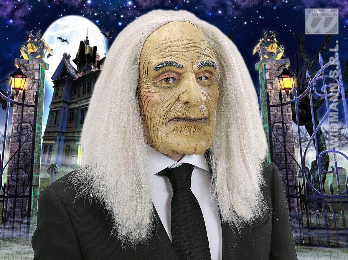 Scary Old Man Butler Mask Adams Family Halloween Fancy Dress | eBay