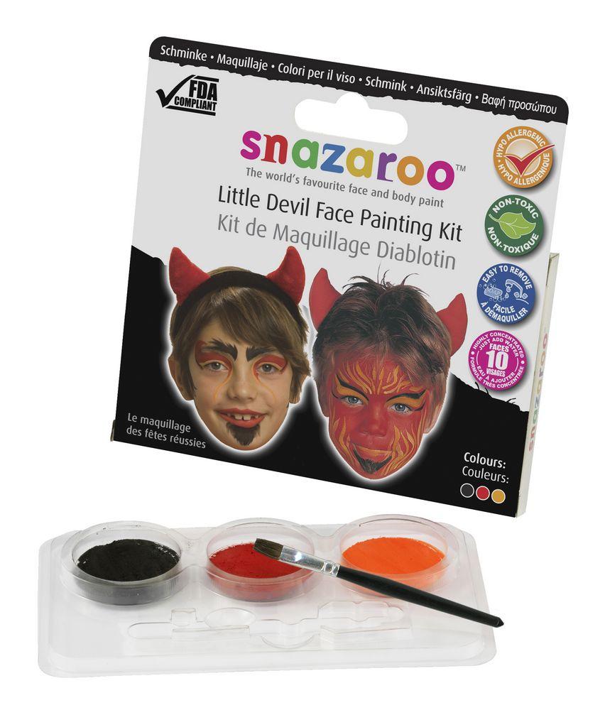 Red Devil Makeup Kit Face Paint Set Halloween Fancy Dress - Makeup Set Halloween