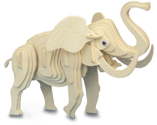 elefant 3d holz bausatz modell puzzle spiel. Black Bedroom Furniture Sets. Home Design Ideas