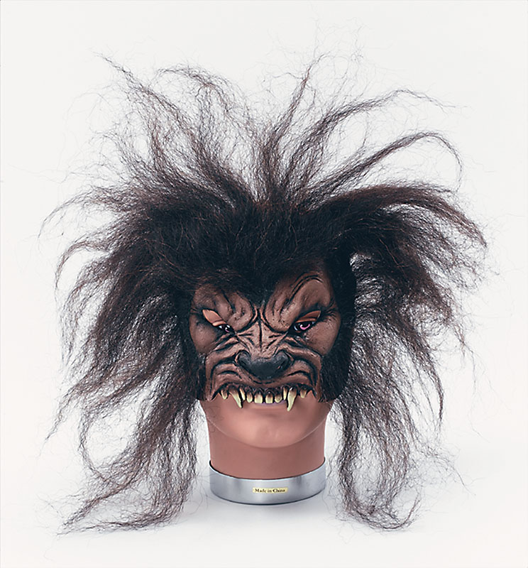 Loup Garou Masque Frontal Cheveux Déguisement Loup Effrayant Animal