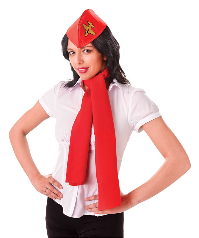 air hostess kit hat and scarf flight attendant pilot
