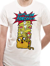 Adventure Time Pancakes Mens T-Shirt Licensed Top White 2XL