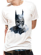 Batman Gothic Skull Mens T-Shirt Licensed Top White L