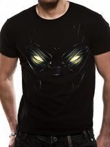 Captain America Civil War Eyes Black Panther Mens T-Shirt Licensed Top Black S