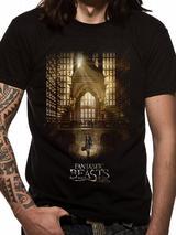 Fantastic Beasts Hall Mens T-Shirt Licensed Top Black M