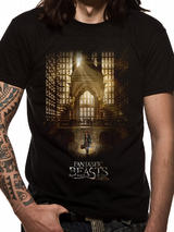 Fantastic Beasts Hall Mens T-Shirt Licensed Top Black S