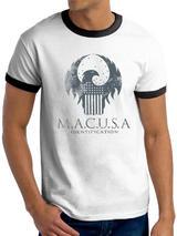 Fantastic Beasts Macusa Logo Symbol Mens T-Shirt Licensed Top White 2XL