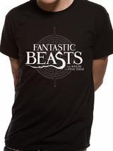 Fantastic Beasts Symbol Logo Symbol Mens T-Shirt Licensed Top Black 2XL