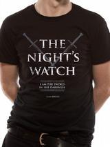 Game Of Thrones Nights Watch Mens T-Shirt Licensed Top Black M