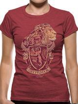 Harry Potter Gryffindor Mens T-Shirt Licensed Top Red L