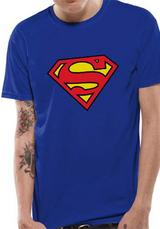 Superman Logo Symbol T-Shirt Licensed Top Blue L